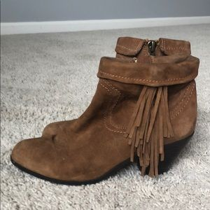 Sam Edelman Brown Tassel Booties
